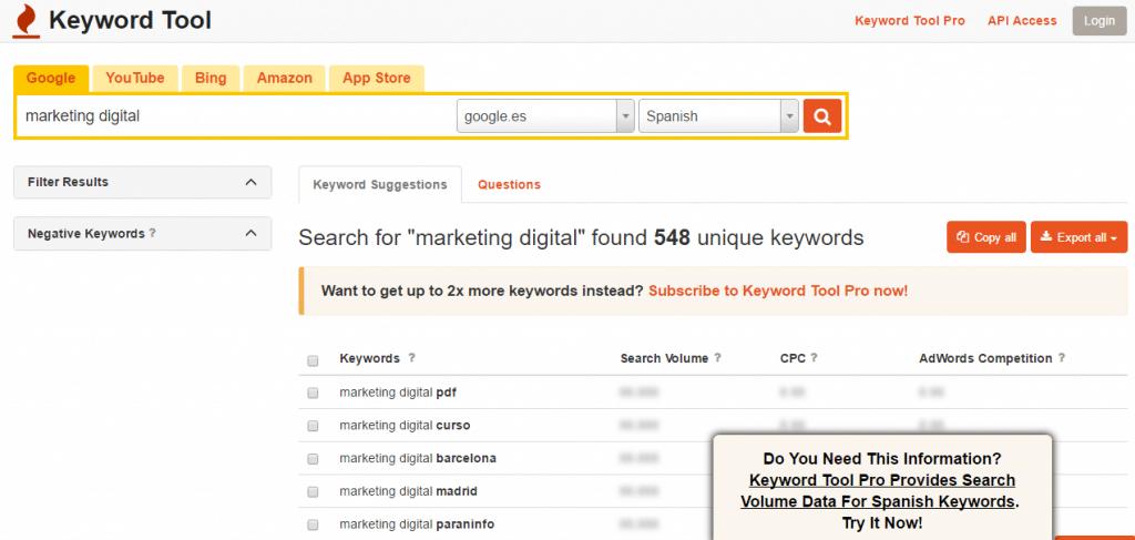 Keyword Tool SEO