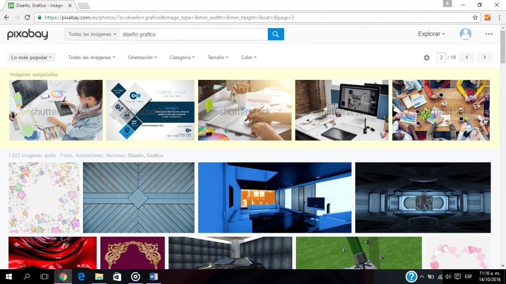 Pixabay es un completo banco de imágenes, en donde encuentras fotografías y vectores, de libre uso y gratuitas 100%