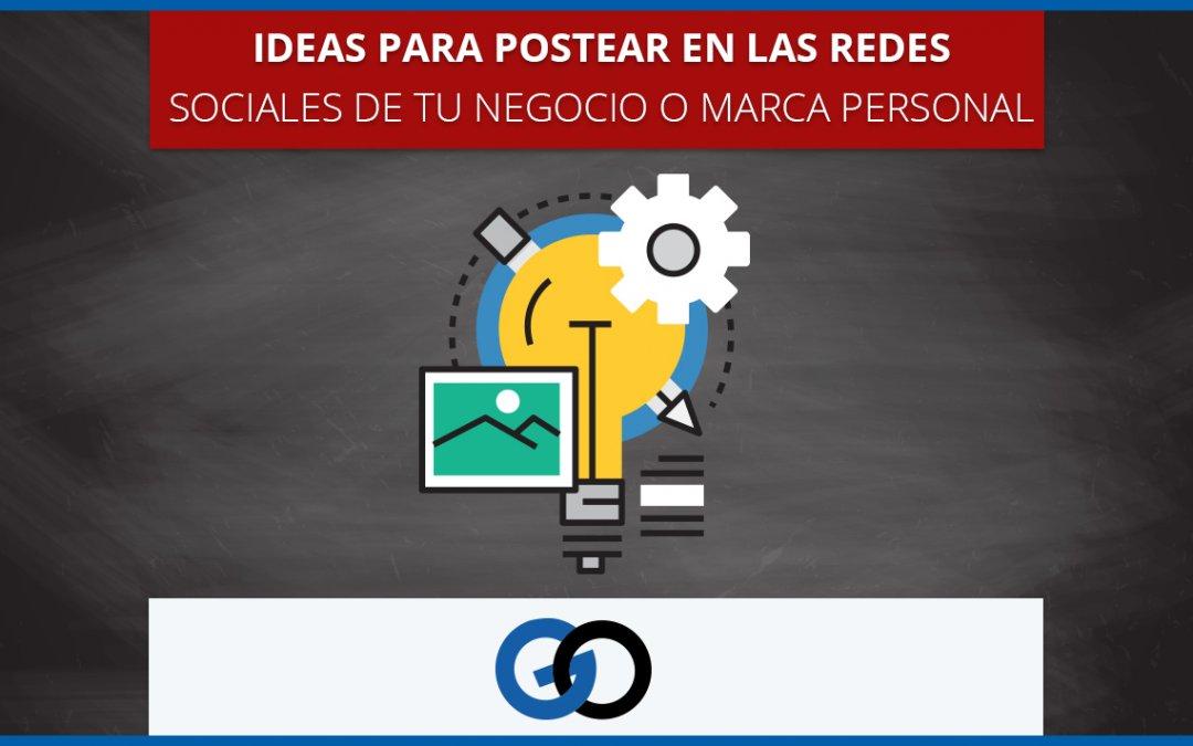 Ideas para las redes sociales de tu negocio o marca personal