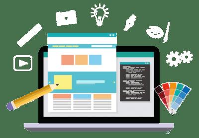 Editor de sitio web diseño web