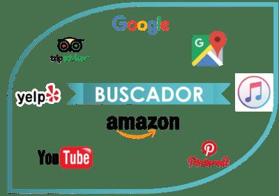 Logos amazon youtube buscadores google