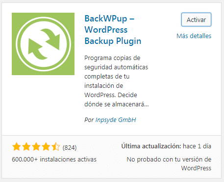 BackWPup - WordPress