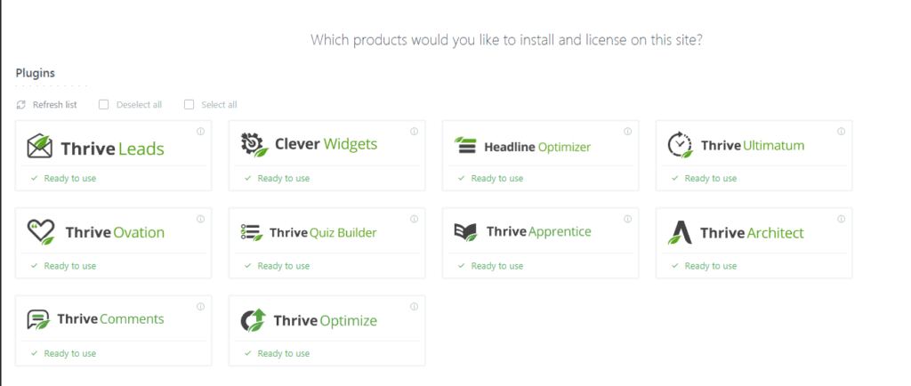 Plugins de Thrive